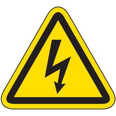 International Symbol Labels - Electrical Hazard
