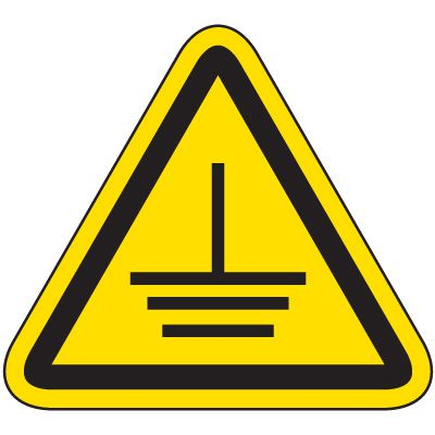 International Symbol Labels - Electrical Grounding
