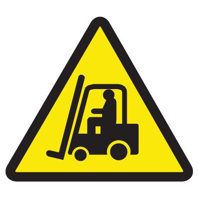 ISO Warning Symbol Labels - Lift Truck Hazard