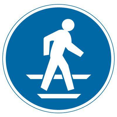 International Symbol Labels - Use Pedestrian Route