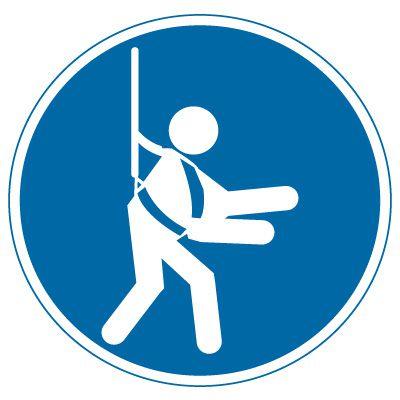 International Symbol Labels - Safety Harness | Emedco