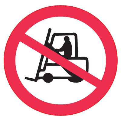 ISO Prohibition Labels - No Forklift
