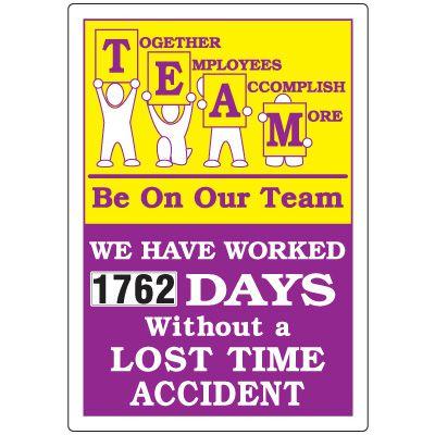 Together Employees Accomplish More Scoreboard