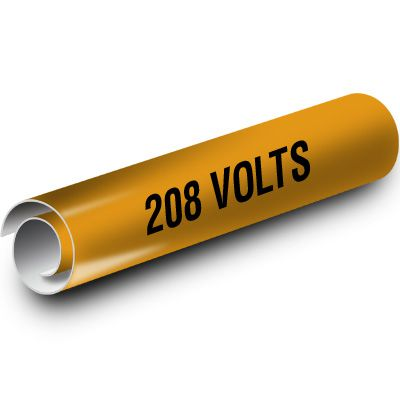 208 Volts Kwik-Koil Pipe Markers