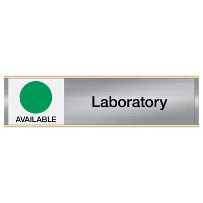 Laboratory-Available/In Use - Engraved Facility Sliders