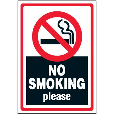 No Smoking Please Label