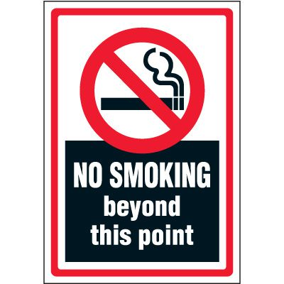 No Smoking Beyond This Point Label