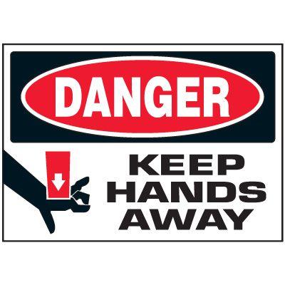 Keep Hands Away Machine Danger Labels