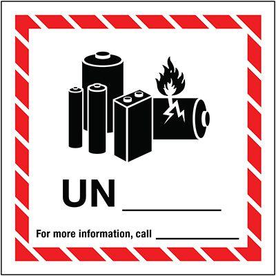 Lithium Battery Label UN 5x5