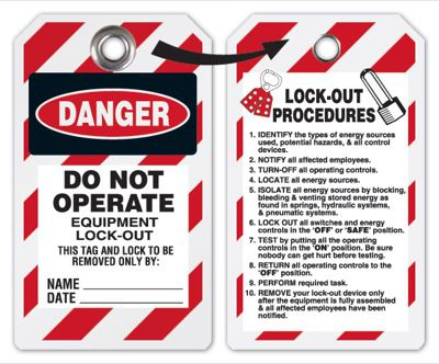 Danger Do Not Operate Lockout Tag (Tyvek)