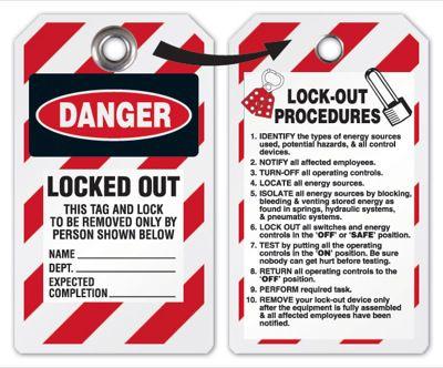 Danger Locked Out Tag (Tyvek)