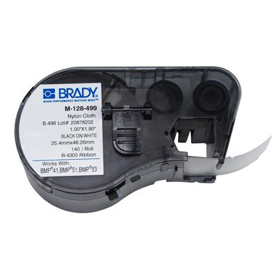 Brady BMP51/BMP41 M-128-499 Label Cartridge - Black on White