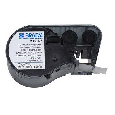 Brady BMP51/BMP41 M-89-427 Label Cartridge - Black on White/Clear