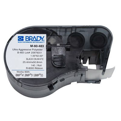 Brady BMP51/BMP41 M-60-483 Label Cartridge - Black on White