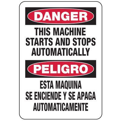 Bilingual Machine Starts Automatically Sign