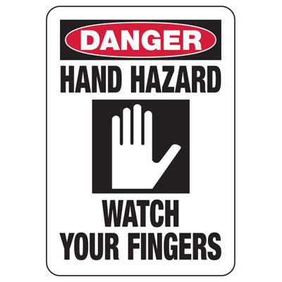 Danger Hand Hazard Sign