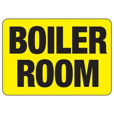 Boiler Room Safety Sign