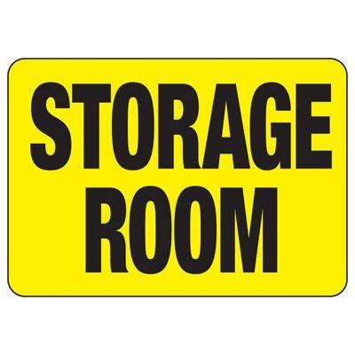 Storage Room Safety Sign