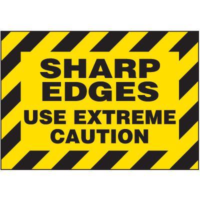 Sharp Edges Warning Markers
