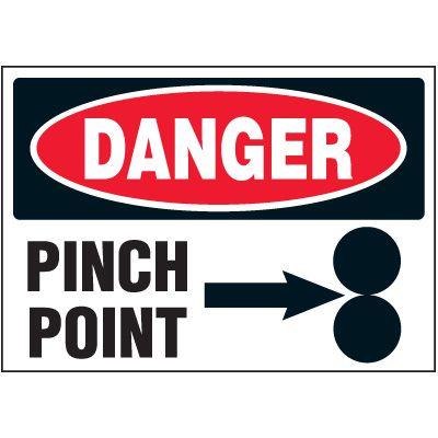 Danger Pinch Point Machine Safety Labels