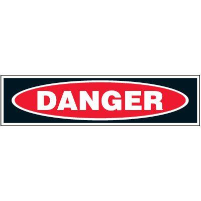 Machine Hazard Labels - Danger