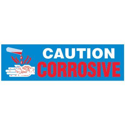 Caution Corrosive Magnetic Cabinet Label