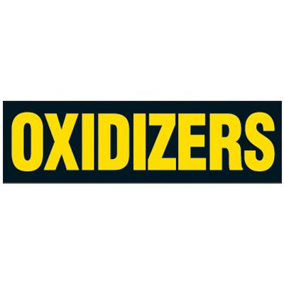 Oxidizers Magnetic Storage Cabinet Label