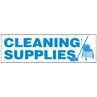 Cleaning Supplies Magnetic Storage Cabinet Label
