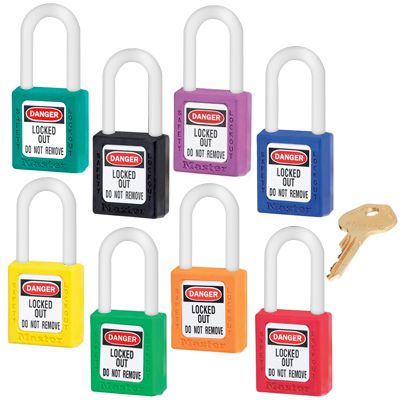 Master Lock® Keyed-Alike Color-Coded Message Padlocks