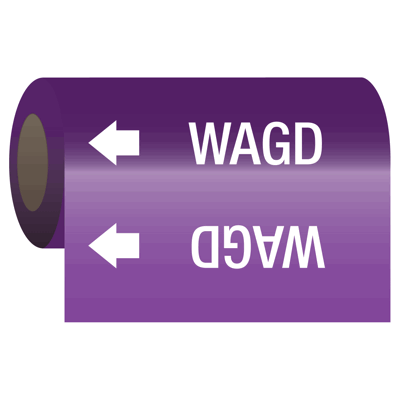 Wagd - Medical Gas Self-Adhesive Pipe Markers-On-A-Roll