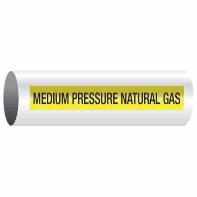 Medium Pressure Natural Gas - Opti-Code™ Self-Adhesive Pipe Markers