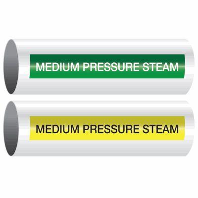 Medium Pressure Steam - Opti-Code™ Self-Adhesive Pipe Markers