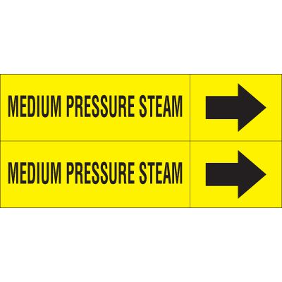 Medium Pressure Steam - Weather-Code™ Self-Adhesive Outdoor Pipe Markers
