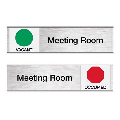 Meeting Room-Vacant/Occupied - Engraved Facility Sliders