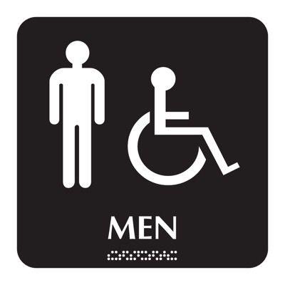 Men - Optima ADA Restroom Signs