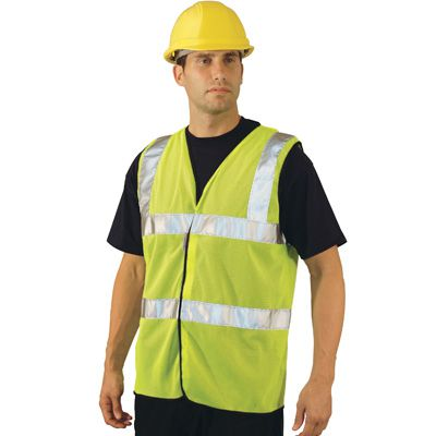 Mesh ANSI Class 2 Safety Vests - Occunomix LUX-SSFULLG-