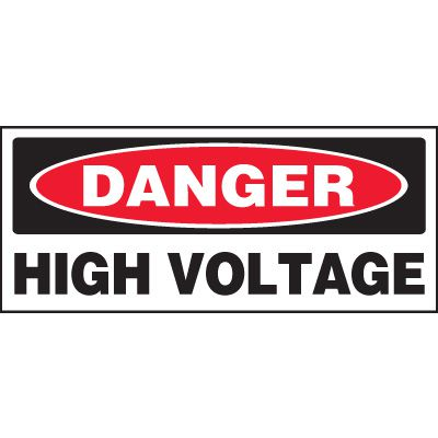 Danger High Voltage Miniature Labels