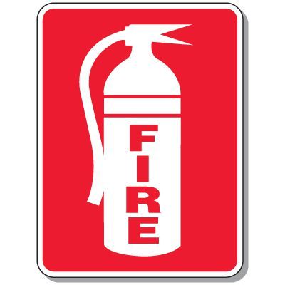 Fire Emergency Signs - Fire with Graphic
