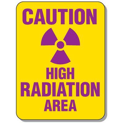 Radiation Signs - Caution High Radiation Area