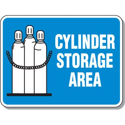Cylinder Mining Signs - Cylinder Storage Area