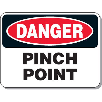 Lock-out & Machine Safety Signs - Danger Pinch Point