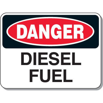 Chemical & Flammable Signs - Danger Diesel Fuel