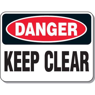 Hazardous Work Zone Mining Signs - Danger Keep Clear