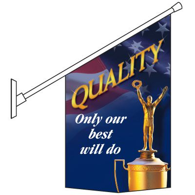 Our Best Will Do Pole Banner