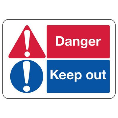 ANSI Format Multi-Message Hazard Sign - Danger Keep Out