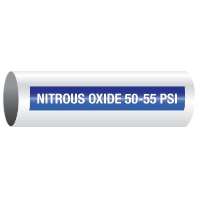 Nitrous Oxide 50-55 PSI - Opti-Code™ Self-Adhesive Medical Gas Pipe Markers