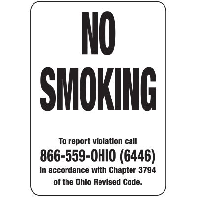 No Smoking to Report Signs