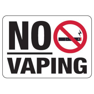 No Vaping Sign (w/ Graphic)