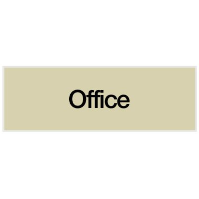 Office - Engraved Standard Worded Signs