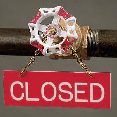Closed - Valve Sprinkler Sign